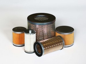 Vacuum pump air filter cartridge